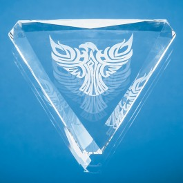 Product image 1 for Facet Triangle Paperweight