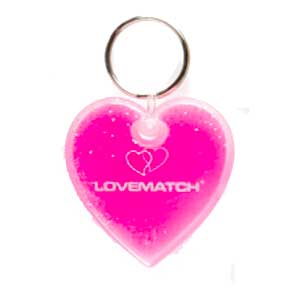 Heart Shaped Aqua Keyfob